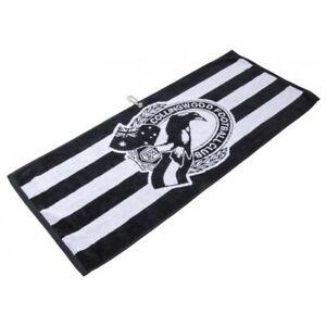 OFFICIAL AFL JACQUARD GOLF TOWEL - COLLINGWOOD - BRAND NEW - VALUE PLUS!!