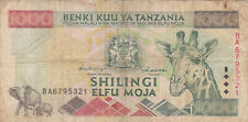 1000 SHILLINGS VG BANKNOTE FROM TANZANIA 1997 PICK-30