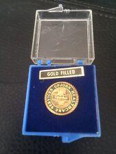 Vintage Rare Medical Upjohn Healthcare Services Lapel Pin Gold Filled