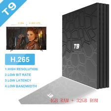 T9 Android 8.1 Tv-Box 4K H.265 USB3.0 2.4G Wi-Fi Quad Core 100Mbps 4GB+ 32GB Gb