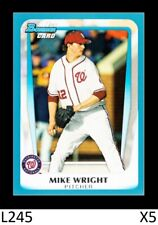1-2011 BOWMAN DRAFT BLUE PARALLEL MIKE WRIGHT ORIOLES /499 CARD#BDP21 QTY