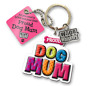 Proud Dog Mum Mom 3D Key Ring Bag Charm Tag Dog Lovers Gift Stocking Filler
