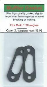 Moki M 120 1.20 Exhaust/Muffler Gasket 2 Pack NIP
