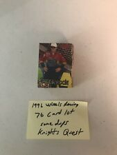 1996 NASCAR WHEELS RACING KNIGHTS QUEST NM/ 76 CARD LOT