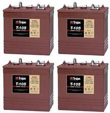 6 Volt Scissor Lift/Floor Scrubber Batteries - Trojan T-105 (4 Pack, 24V)