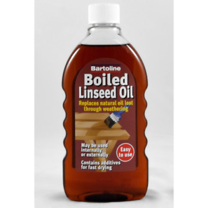 bartoline Boiled Linseed Oil revive wood furniture banister finish natural 500ml