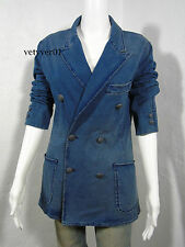 New Polo RALPH LAUREN Double-Breasted Jersey Cotton Blazer/Jacket Indigo size 6