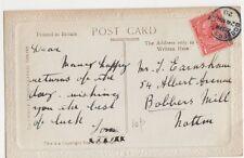 Mr. J. Earnshaw, 54 Albert Ave., Bobbers Mill Nottinghamshire 1920 Postcard B377