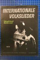 Siegfried Behrend Internationale Volkslieder Heft 3 Sikorski Songbook B25915