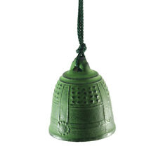 Wind Temple Bell Japanese Cast Iron Windchime - Green