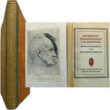 Gerhart Hauptmann und sein werk 1922 Ludwig Marcuse nobel théâtre naturalisme