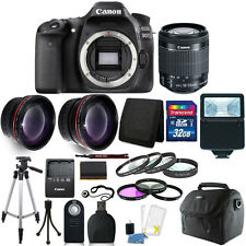 Canon EOS 80D 24.2MP Digital SLR Camera with 18-55mm Lens + 16GB Top Holiday Kit