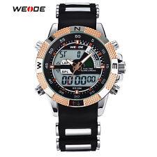 WEIDE Fashion Digital LED Date Military Sport  Dual Time Zone mens Quartz Watch