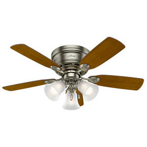 """42"""" Antique Pewter LED Indoor Ceiling Fan with Light Kit"""
