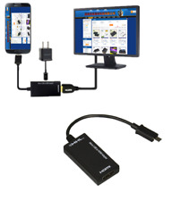 Micro USB to HDMI TV Out HDTV MHL Adapter Cable for Phone or Tablet Fast Charger