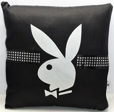 Playboy Black Diamante Square Cushion 40cmx40cm