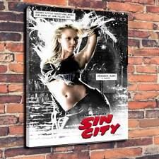"Sin City-Nancy Película Lona Impresa Caja A1 .30 ""X 20"" profundo 30mm Marco Jessica Alba"