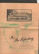 The Refectory Restaurant Menu  Niagara Falls c.50's