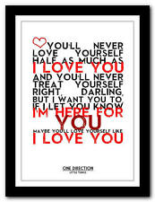 ONE DIRECTION - Little Things 4 - song lyric poster art print - 4 sizes