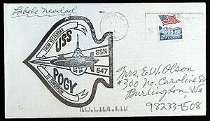 USS POGY SSN 647 ATTACK SUBMARINE~CACHE~NOV 1993 CNX IN SAN DIEGO FINE/VERY FINE