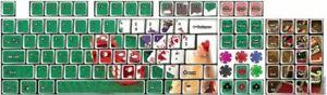 Funkeyboard Designer Keyboard Stickers  Las Vegas Style