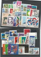 timbres france année complete ( 52 timbres)  1996 + 3 carnets
