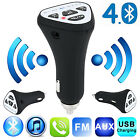 Bluetooth Wireless 4.1 Car AUX Stereo Audio Receiver FM Adapter USB Charger A2DP