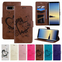 Leather Magnetic Flip Stand Card Wallet Case Cover For Samsung Note 10/9/S10+/S9