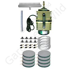 ACO009E HAILEA AIR PUMP 8x AIRSTONE KIT ACCESORIES hydroponic fish pond aeration