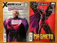 X-MEN BLACK MAGNETO #1 Campbell Main + Larroca Mugshot Variant Set 2018 NM+