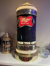 """1984 Miller High Life Beer Motion Bouncing Ball Rotating Light Sconce Sign 15.5"""""""