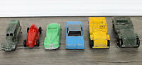 Mixed 6 Vintage Tootsie Toy Car & Army Jeep Lot Die Cast American made