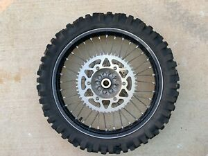 2010 10-13 KAWASAKI KX250F REAR RIM ROTOR HUB ASSEMBLY SPROCKET BLACK