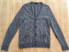 Marc Jacobs Gray Black Patch Thin Knit Cardigan Sweater Size S A34