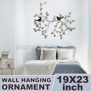Tree of Life Bird Metal Wall Art Hanging Ornament Sculpture Home Garden Decor
