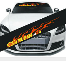 1Pcs Car Front Windshield PVC Sticker Sport Racing Decals For Mugen Flame Decals