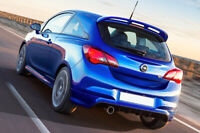 VAUXHALL CORSA E OPC LOOK REAR BUMPER SPOILER / DIFFUSER - SINGLE EXHAUST