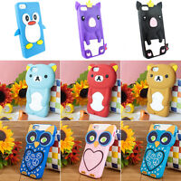 For Apple iPhone 5 5S 5C 3D Silicone Animal Soft Gel Skin Case Cover w/Screen