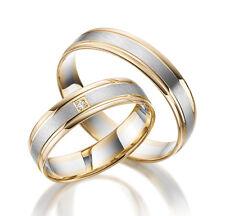 2 x 333 or blanc jaune bicolore ANNEAU DE MARIAGE véritable COMBAT PRIX ! lm.03