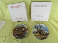 "New Listingcollectors decorative plates 2ea ""Courtship/TheLanding"" DominionChina New 9"""