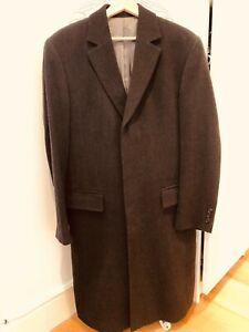 Hugo Boss Virgin Wool Neon Coat - Men Size 46