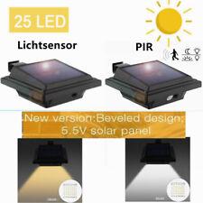 Solarlampen 25LEDs Dachrinnenleuchte mit PIR Sensor / Lichtsensor Wandleuchte