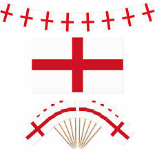 England St George's Day Party Decorations - Flag / 40m Bunting / 100 Flag Picks