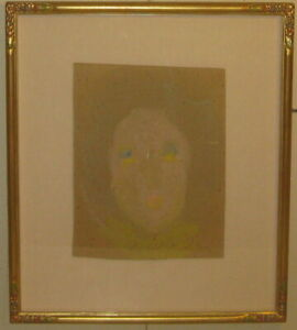 Original Early SYBIL GIBSON Portrait of Woman PAINTING - LISTED Outsider Artist