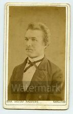 CDV Photo Man by Photographer Erik Radberg Karlstad Sweden  LBG1