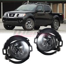 For 10-17 Nissan Frontier Winjet OE Factory Fit Fog Light Bumper Kit Clear Lens