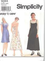 Simplicity 9344 Misses'/Miss Petite Dress and Top  Sewing Pattern