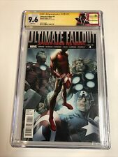 Ultimate Fallout (2011) # 4 (CGC SS 9.6 WP) 1st App Miles Morales Signed Bagley