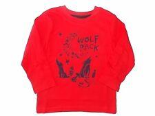 NWT Boy's Gymboree Mix Match red wolf long sleeve shirt 6 12 18 months 2T 3T 5T