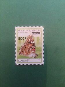 Bénin surchargé overprint Papillon 500f sur 135f neuf MNH frappe A